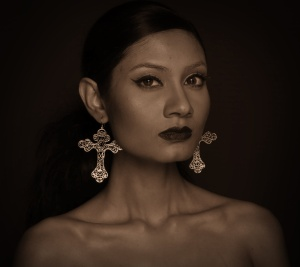 Jesus Earrings by Eina Ahluwalia